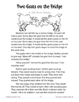 Two Goats on the Bridge (A Tale from Russia)
