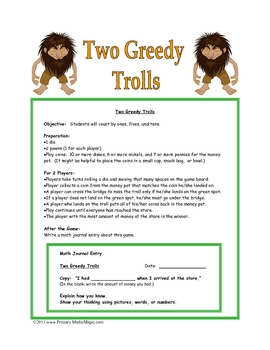 Two Greedy Trolls: Counting Pennies, Nickels, and Dimes