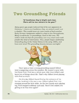 Two Groundhog Friends