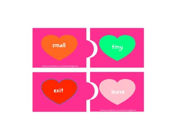 Two Hearts A Flutter and Opposites Attract Word Work Activities