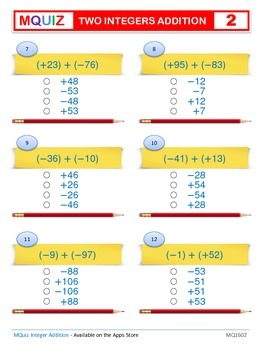 Add Two Integers - Multiple Choices
