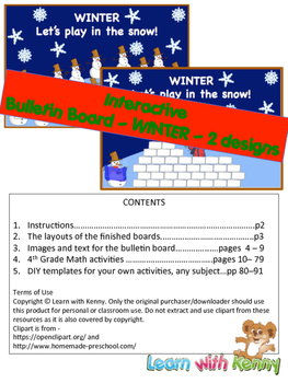 Two Interactive Bulletin Boards for Winter