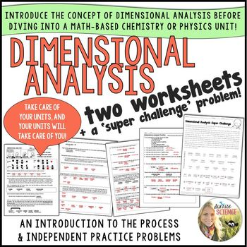 Two Introductory Dimensional Analysis Worksheets