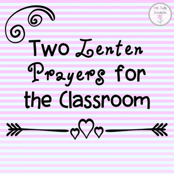 Two Lenten, Easter Prayers for the Classroom