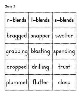 Two Letter Blend Word Sort
