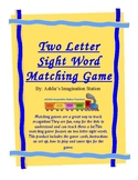 Two Letter Sight Word Matching Game