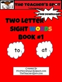 Two Letter Sight Words - Book #1