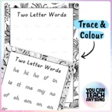 Two Letter Word Handwriting Activities Tracing and Outline