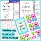 Two Letter Words Handwriting, Word Outline Pages and Flash