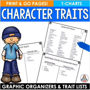 Character Traits Differentiated Lists