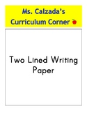 Two Line Writing Paper