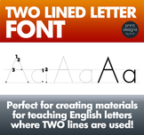 Two Lined Alphabet Letter Tracing Font • Writing in Europe