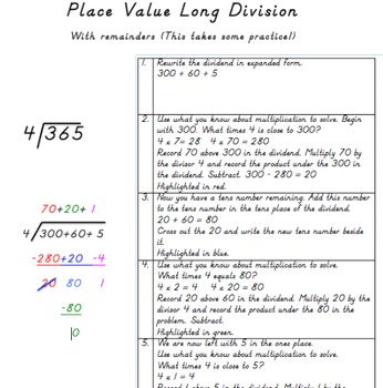 Two Long Division Strategies