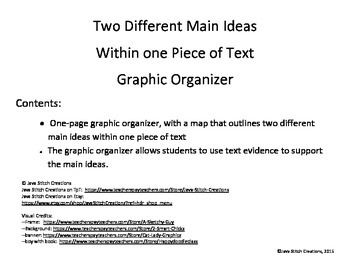 Two Main Ideas in One Text Graphic Organizer