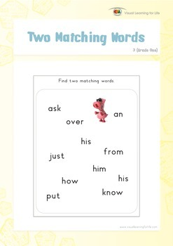 Two Matching Words (1st Grade)