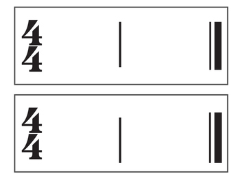 Two-Measure Composition Cards
