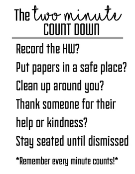 Two Minute Count-down Poster