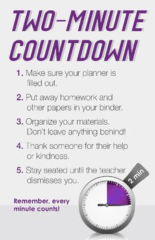 Two Minute Countdown - Classroom Poster