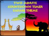 Two Minute Countdown Timer PowerPoint - Safari Theme - Sun