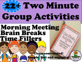 Activities for Morning Meeting, Brain Breaks and Time Fillers