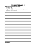 Two-Minute Play Worksheets