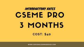 Three (3) Months  CSEME PRO Membership