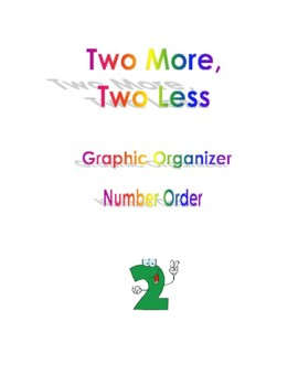 Two More Two Less Graphic Organizer Number Order