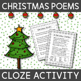Christmas Poems with Cloze Activities - English
