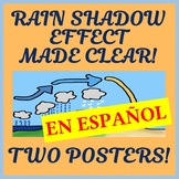 Two Orographic / Rain Shadow Effect Posters - Easy-to-Print 11 x 17 - SPANISH