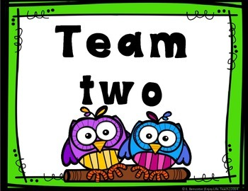 Two Owls Table Team Numbers