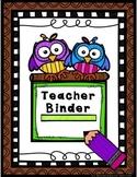 Two Owls Teacher Binder