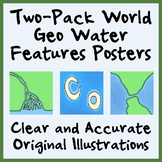 Two-Pack Geography Water Features Posters - Easy-to-Print 11 x 17