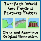 Two-Pack Geography Physical Features Posters - Easy-to-Pri