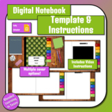 Two Page Digital Interactive Notebook Template (Includes Video Instructions)