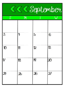 Two Page Monthly Calendars for 2017-2018