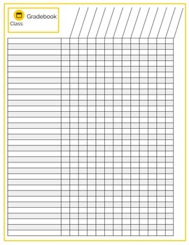 Gradebook, Student Checklist Printable Pages, 13 Designs & Custom Options