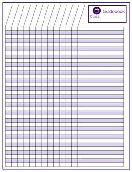 free printable gradebook