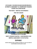 Two Part Assessment for Independent Reading and Summer Ass