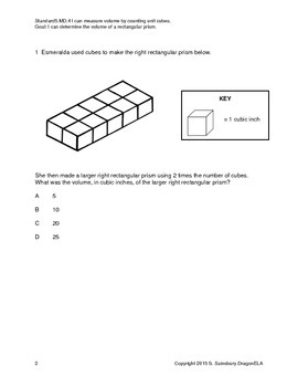 Two Part Volume Problems with Multiplication in the Second Part