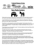 Two-Party System Civics Article and Assignment