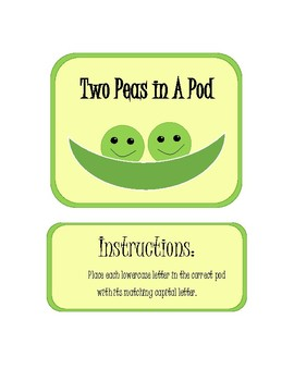 Two Peas In A Pod - Capitals and Lowercase