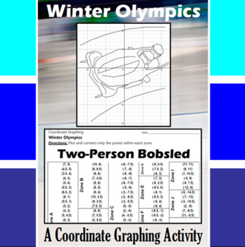 Two-Person Bobsled - An Olympic Coordinate Graphing Activity
