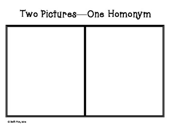 Two Pictures, One Homonym Activity