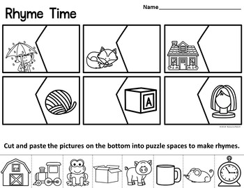 Rhyming Puzzles Center