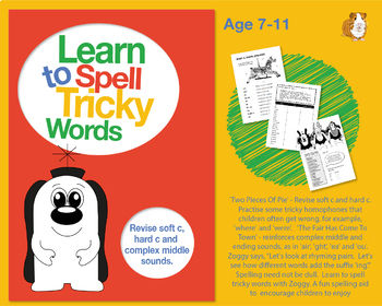 Two Pieces Of Pie: Learn To Spell Tricky Sounds With Soft 'c' And Hard 'c' 7-11