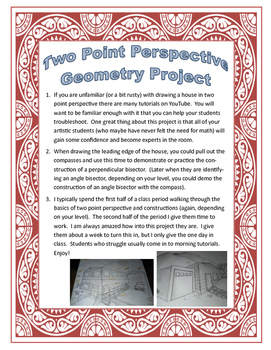 Two Point Perspective Geometry Project