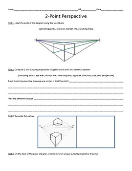 Two-Point Perspective Practice Worksheet