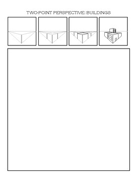 Two-Point Perspective Worksheet: Buildings