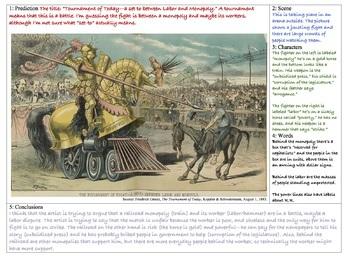 Two Political Cartoon Protocols Including Industrial Era Examples