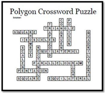 Two Polygon Crossword Puzzles that Emphasize Quadrilaterals and Triangles